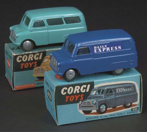 Corgi Bedford 1st type Vans