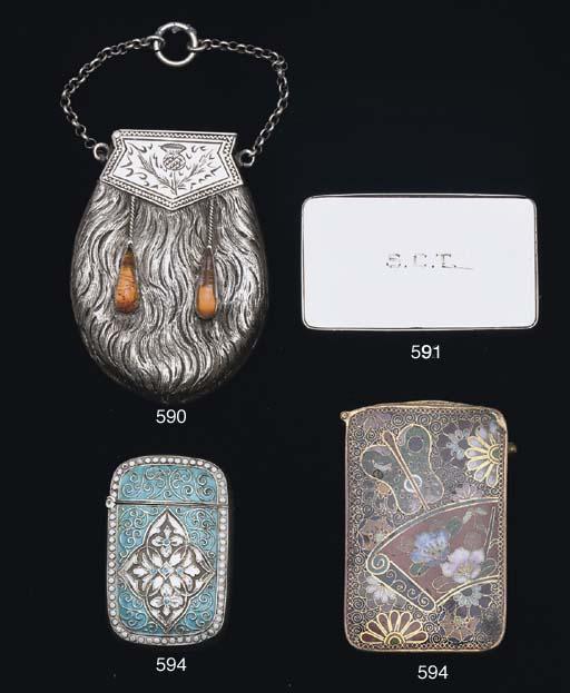 A white metal vesta cases