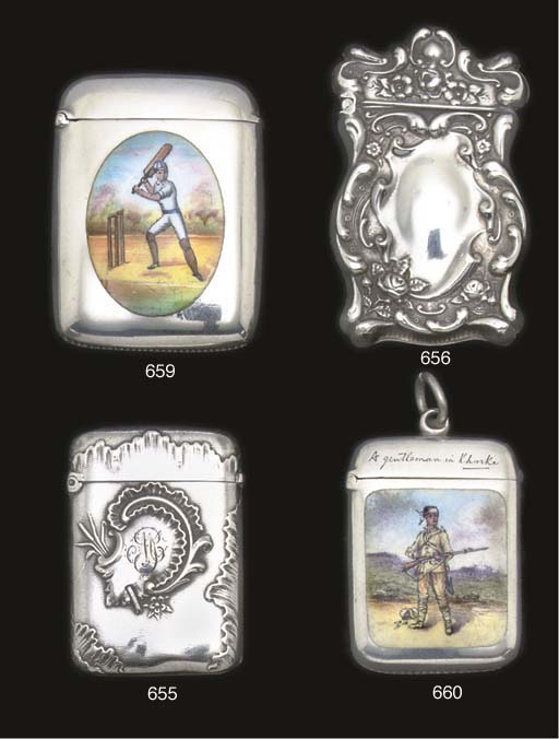 EIGHT SILVER VESTA CASES