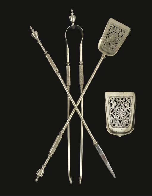 A set of three 'German silver'