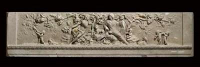 A Regency statuary marble chim