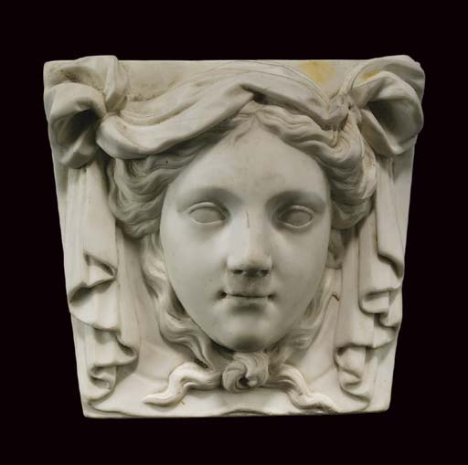 A George II statuary marble ch