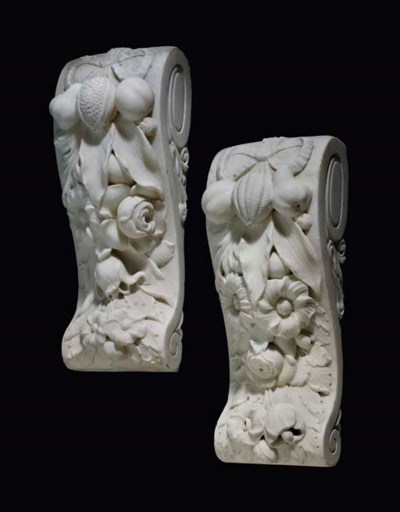 A pair of Victorian sculpted s