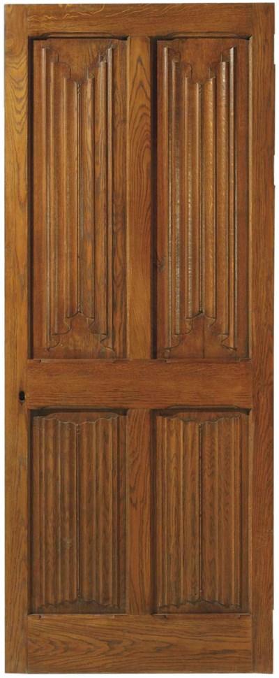 A pair of oak doors