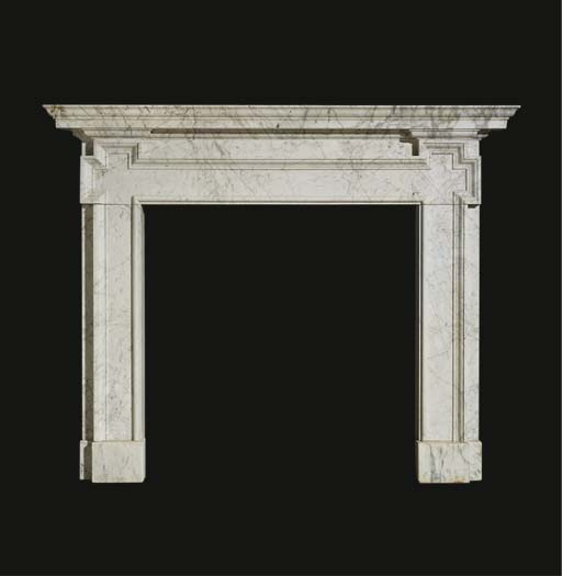 A George I veined white marble