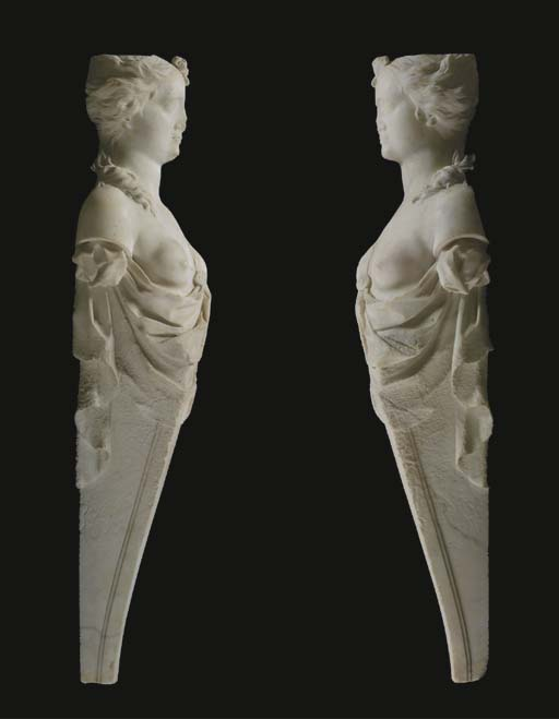 A pair of George II statuary m