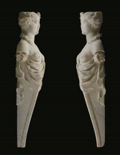 A pair of George II statuary m