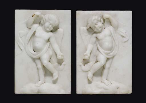 A pair of George III statuary