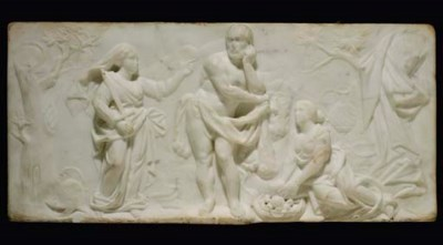 A George II statuary marble ch