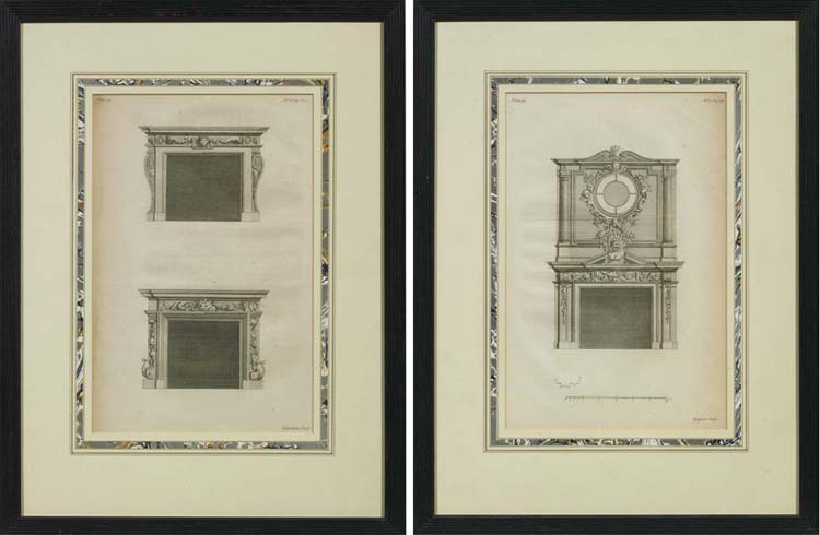 Two plates of chimneypiece eng