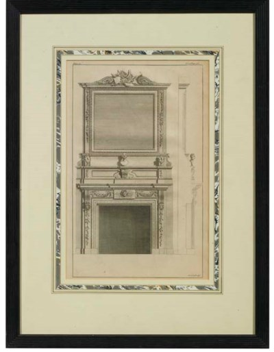 An engraving of chimneypiece a