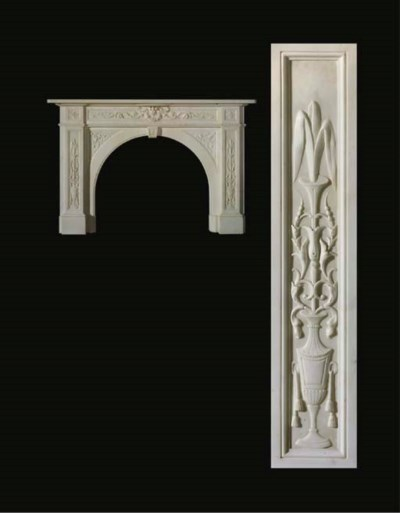 A Victorian white marble chimn