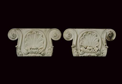A pair of George IV statuary m