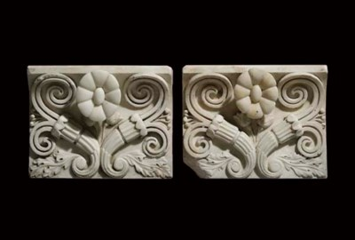 A pair of Regency statuary mar