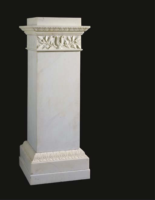 A George III statuary marble p