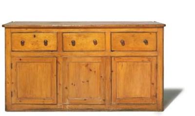 A Victorian pine dresser base