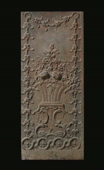 A pair of George II cast iron