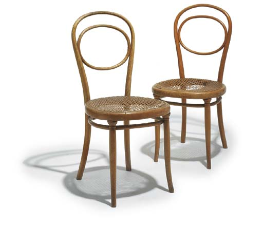 A pair of Bentwood chairs