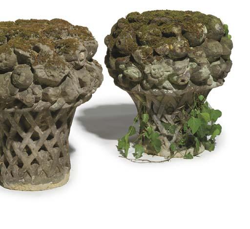 A pair of George III gritstone