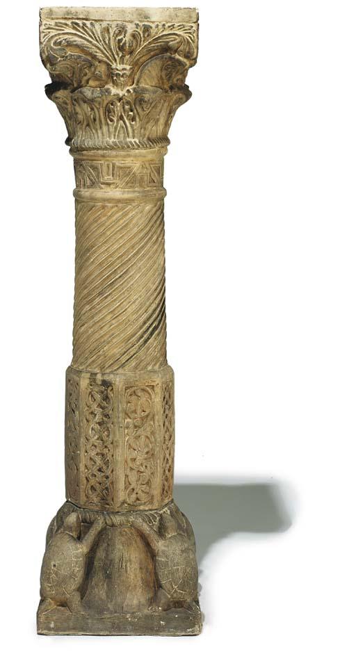 A Victorian terracotta pedesta
