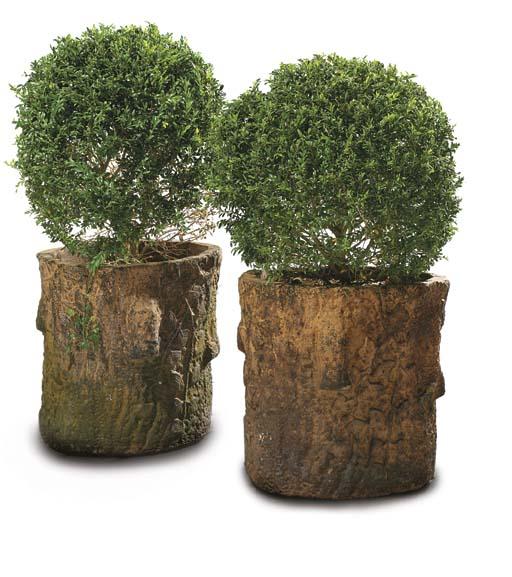 A pair of Victorian terracotta