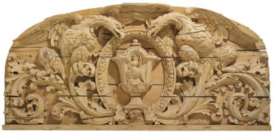 A North European carved and pi