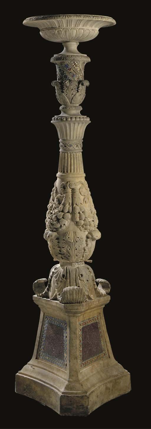 A Roman sculpted white marble