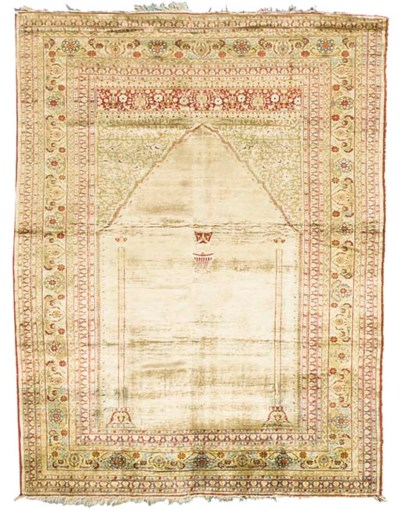 A very fine antique silk Tabri