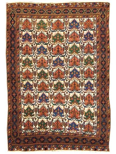 An antique Afshar rug, South-W