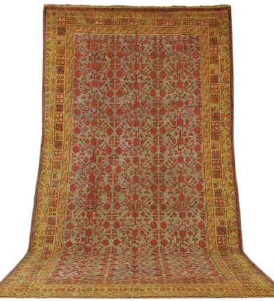 An antique Khotan carpet, East