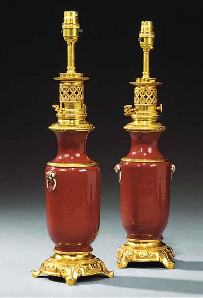 A PAIR OF GILT BRONZE AND SANG