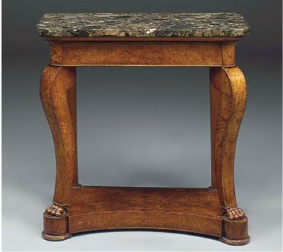 A CHARLES X ELM CONSOLE TABLE