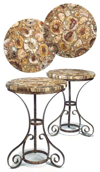 A PAIR OF FOSSILISED WOOD AND