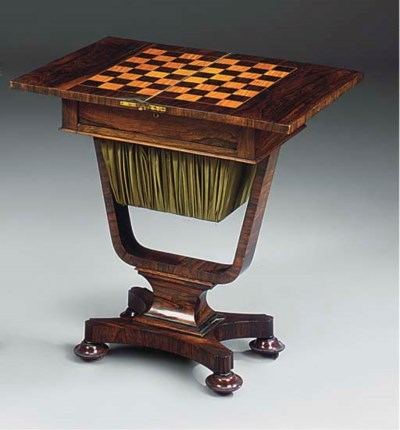 A GEORGE IV ROSEWOOD GAMES AND