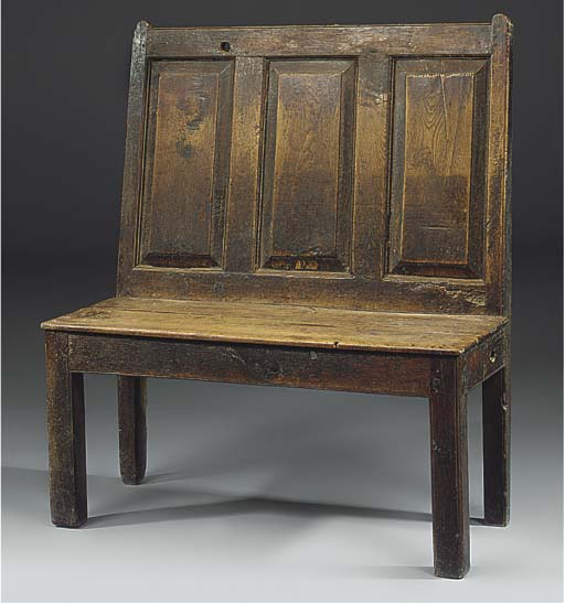 Awe Inspiring A Small Oak Panel Back Settle Or Bench Late 18Th Century Beatyapartments Chair Design Images Beatyapartmentscom