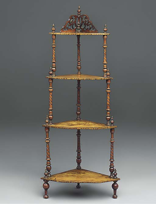 A VICTORIAN WANLUT FOUR-TIER W