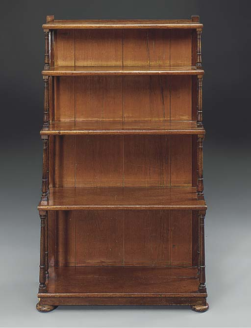 A Victorian four-tier bookcase