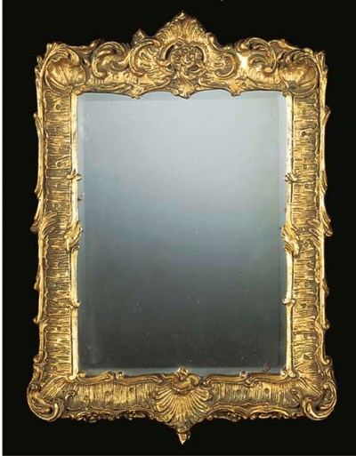 A PAIR OF GILT GESSO MIRRORS