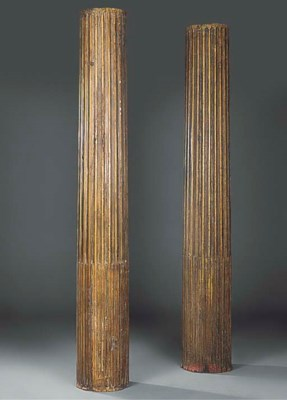 A PAIR OF ARCHITECTURAL COLUMN