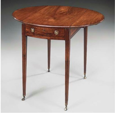 A mahogany pembroke table