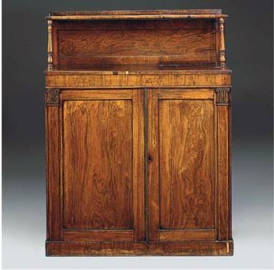 A mahogany chiffonier