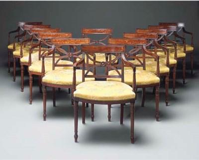 A set of twelve mahogany armch