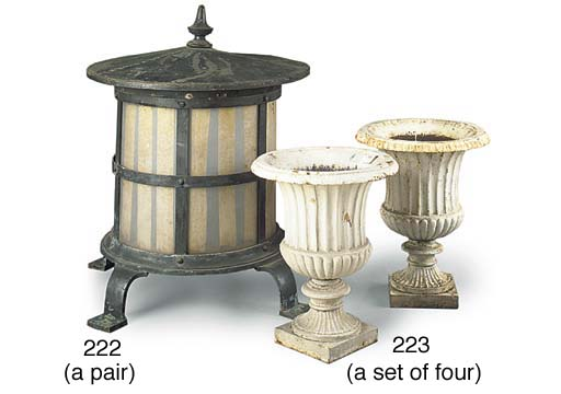 A SET OF FOUR WHITE-PAINTED CA