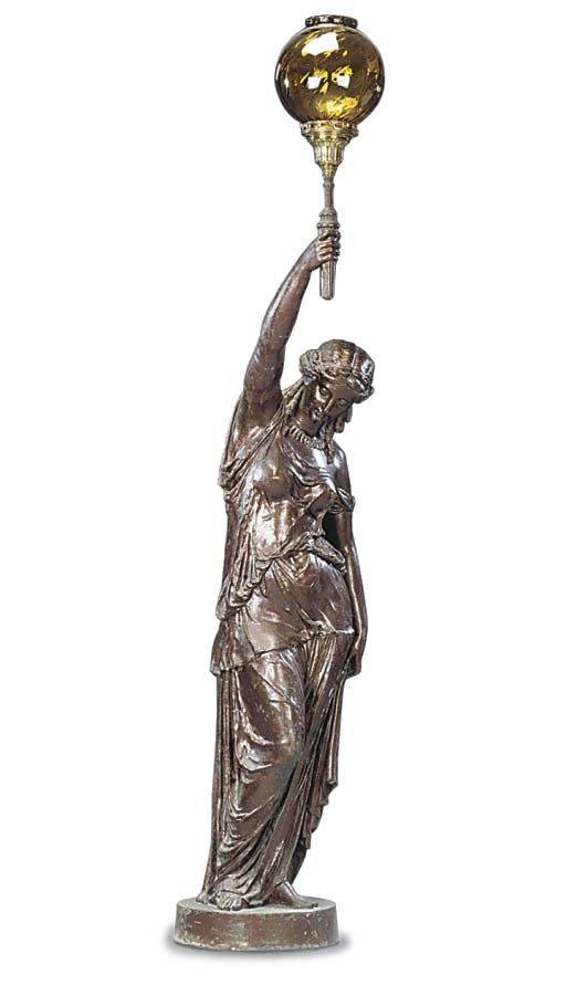 A Continental spelter figural