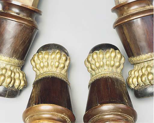 Four North European brass moun
