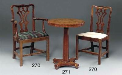 An early Victorian mahogany oc