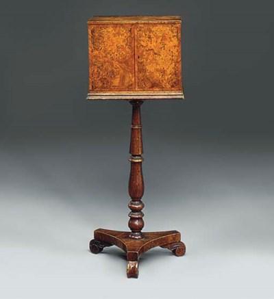 A burr-elm collectors cabinet