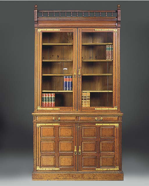 A late Victorian Oak and gilt