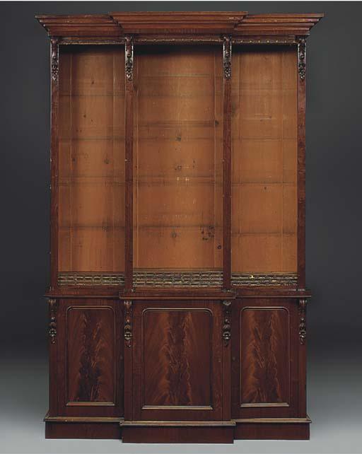 A late Victorian mahogany brea