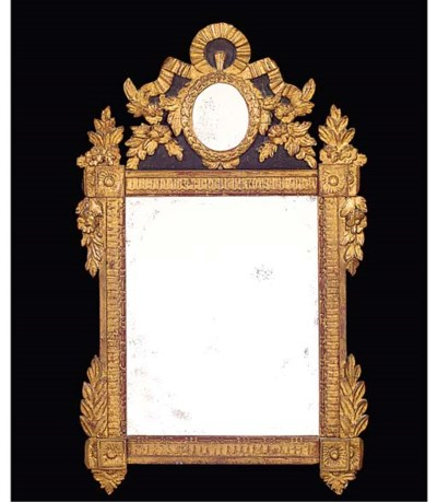A French giltwood and painted